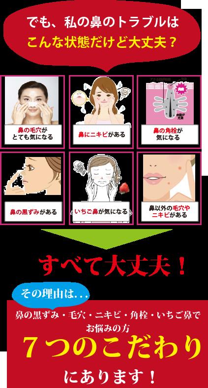 鼻のトラブル 7つのこだわり